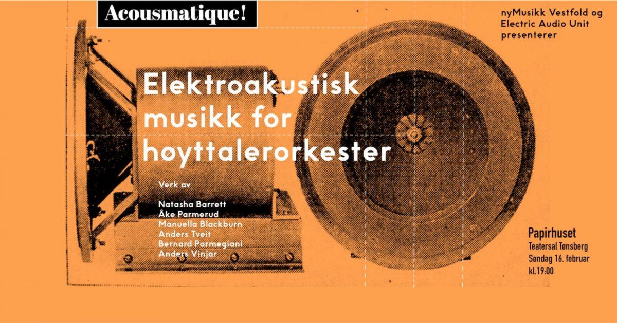 EAU konsert i Tønsberg, 16. februar kl. 19:00